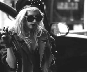 Lady gaga, black and white, and gaga image