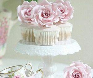 cupcake, sweet, and rose image