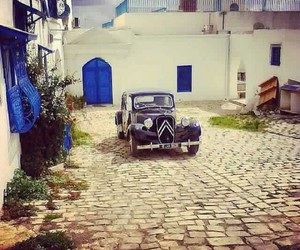 blue, colours, and old car image