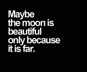 moon, beautiful, and quote image