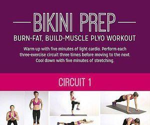 bikini, burn, and fat image