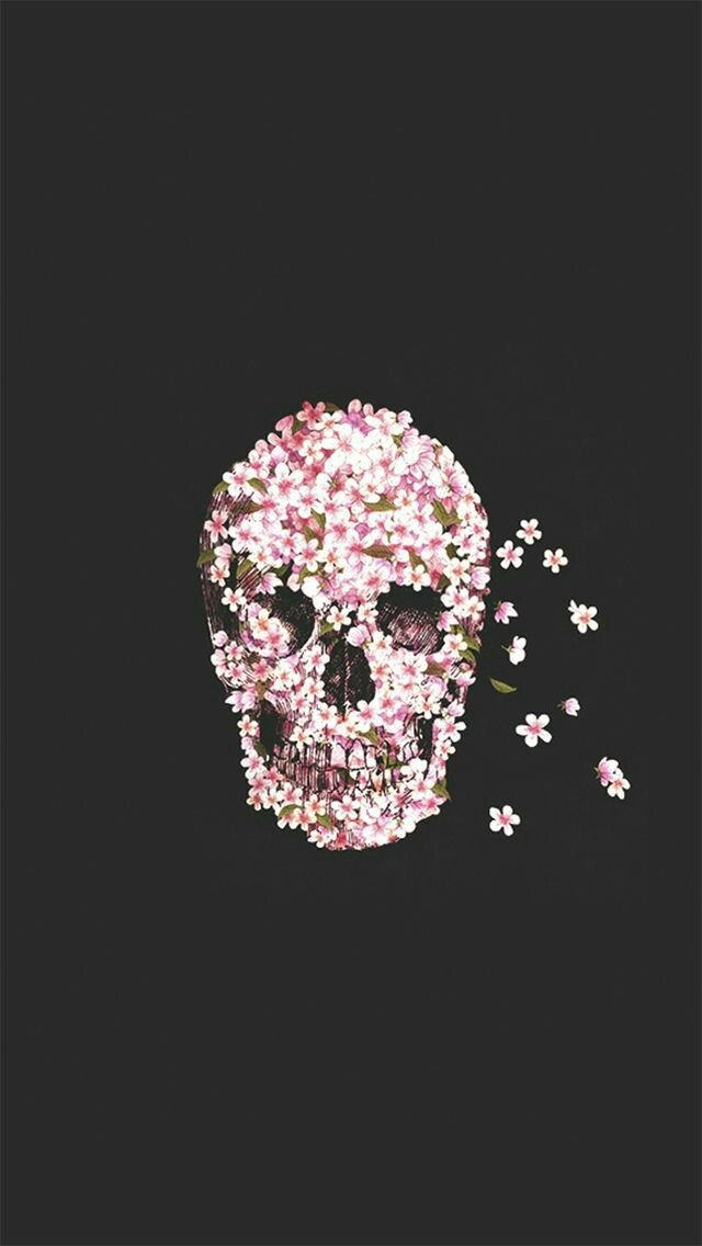 iPhone #wallpaper #tumblr #fiori #skull