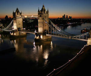 london, city, and light image