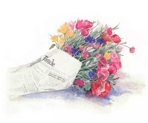 art, flowers, and love image
