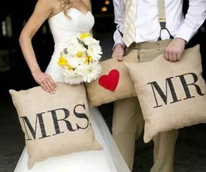 bouquet, love, and bride image