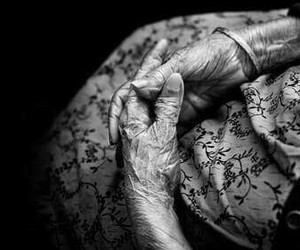 black and white, hands, and old image