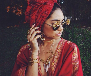 bohemian, sunglasses, and jewellery image