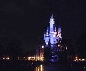 castle, cinderella, and lights image