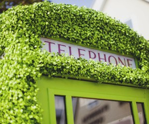 telephone, green, and london image