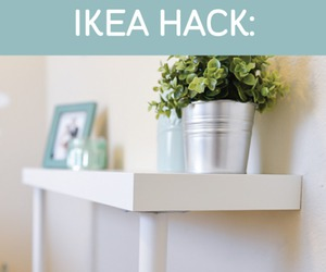 white, diy table, and ikea hack image