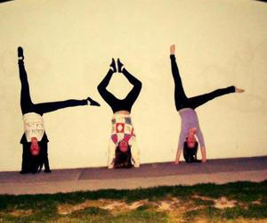 girls, handstand, and lol image
