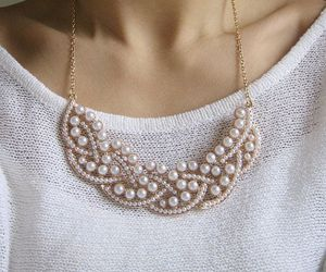 necklace, accessories, and pearls image
