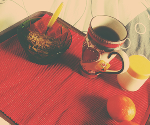 bed, morgning, and breakfast image
