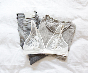 fashion, bra, and jeans image