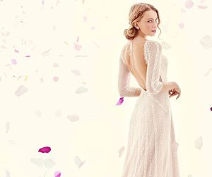 dress, bridal, and lovely image