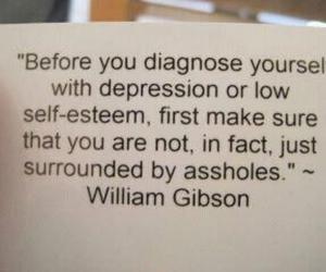 quote, depression, and asshole image