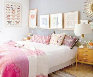 bedroom, pink, and room image