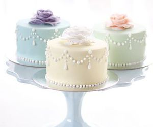 cake, pastel, and rose image