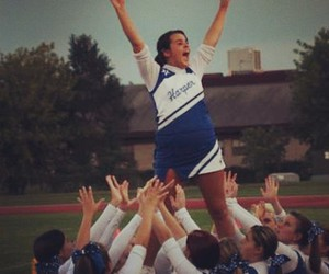 Alexis, blue and white, and high school image