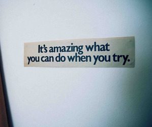 quote, try, and text image
