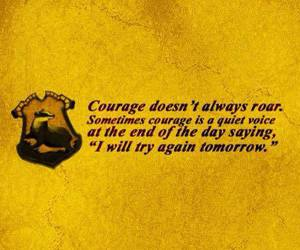 courage, power, and hufflepuff image