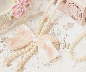 pearls, pink, and cute image