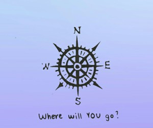 compass, qoutes, and travel image