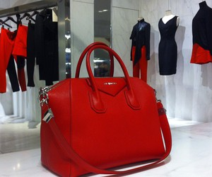 red, bag, and fashion image