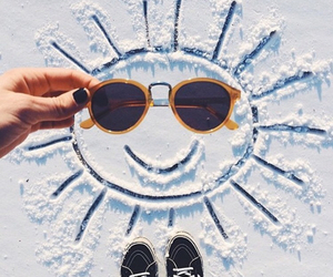sun, winter, and smile image