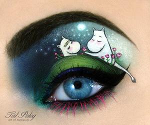 makeup, eye, and art image