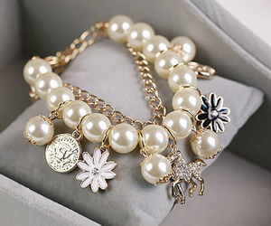 bracelet, fashion, and flowers image
