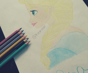 colors, disney, and draw image