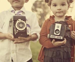 camera, kids, and child image