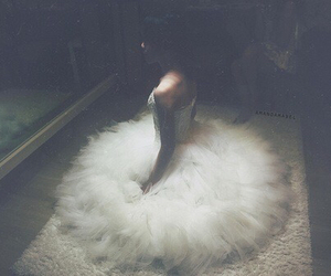 girl, ballet, and dress image