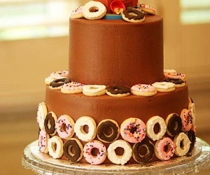 cake, donuts, and funny image