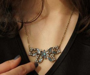 butterfly, necklace, and fashion image