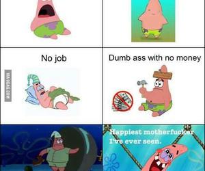 patrick, happy, and spongebob image
