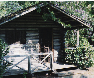 house, hut, and nature image
