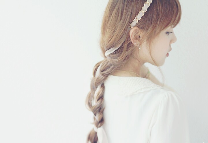 braid, girl, and hair style image