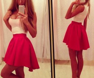 dresses, red, and fashion image