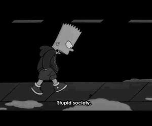 society, bart, and stupid image