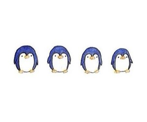 blue, four, and penguin image
