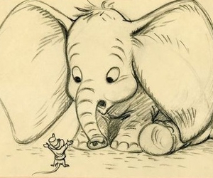 adorable, black, and dumbo image