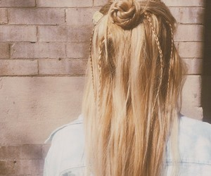blond, girly, and hair style image