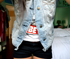 denim, fashion, and obey image