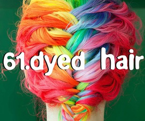 dyed hair, hair, and things image