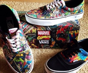 vans, Marvel, and comic image