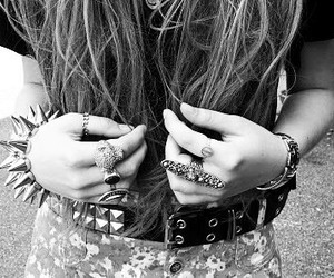 hair, rings, and pink image