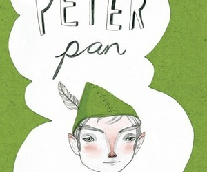 illustration, peter pan, and text image