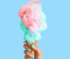 pink, blue, and food image
